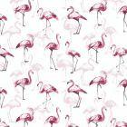 flamingo-kleurrijk-roos-print-wit