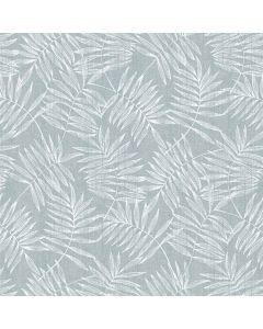 tafelzeil-grijs-blauw-blad-bloemen-vrolijk-modern-hip