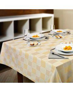 tafelzeil-textolin-sylvain-beige-rond