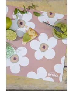 bloemen-roos-placemat-lola-afwasbaar-zomer