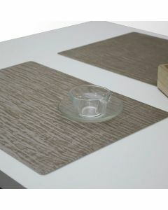Polyline-placemat-forest-strepen-natuur-effen-bruin-taupe-hout
